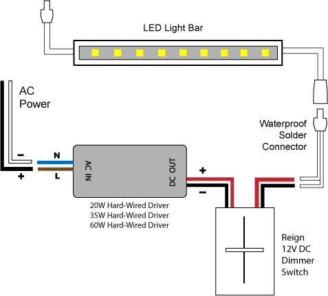 Dimmer Wiring Diagram: 88Light - Reign 12V LED Dimmer Switch wiring diagrams,Design