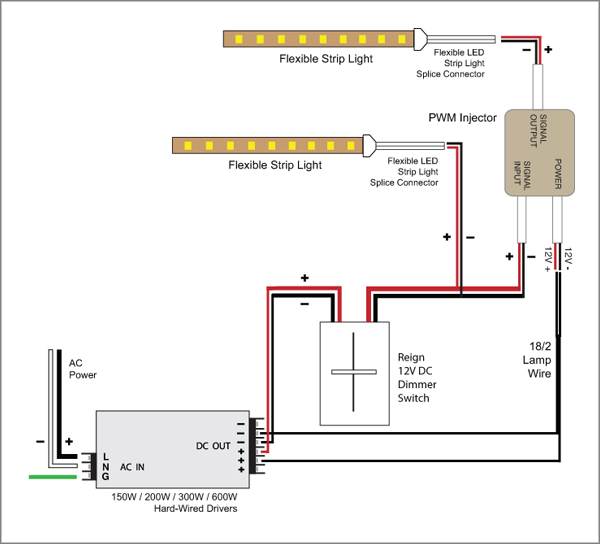 88light reign 12v led dimmer switch wiring diagrams led dimmer switch wiring diagram at Led Dimmer Wiring Diagram