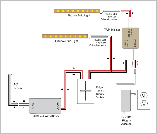 wiring diagram for led switch 88light reign 12v led dimmer switch wiring diagrams reign 12v led dimmer switch wiring diagrams