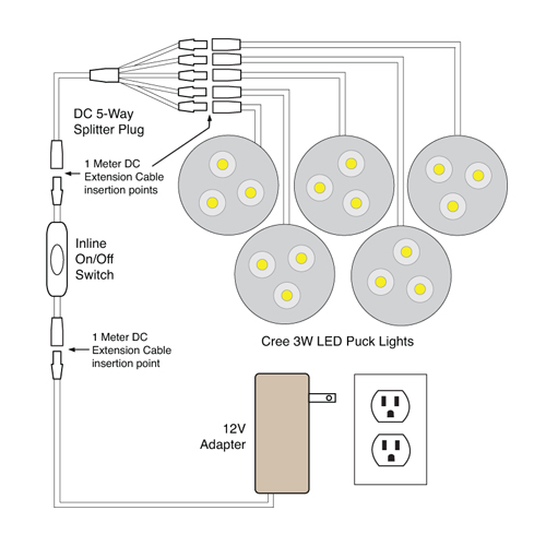 88light led puck light wiring diagrams
